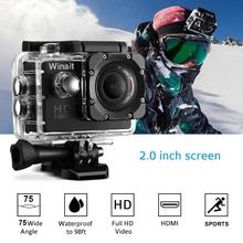 Winait Mini Action Camera HD 1080P 30Meters Waterproof Sport Camera Car Cam 140D Wide Lens Built-In 900mah Battery