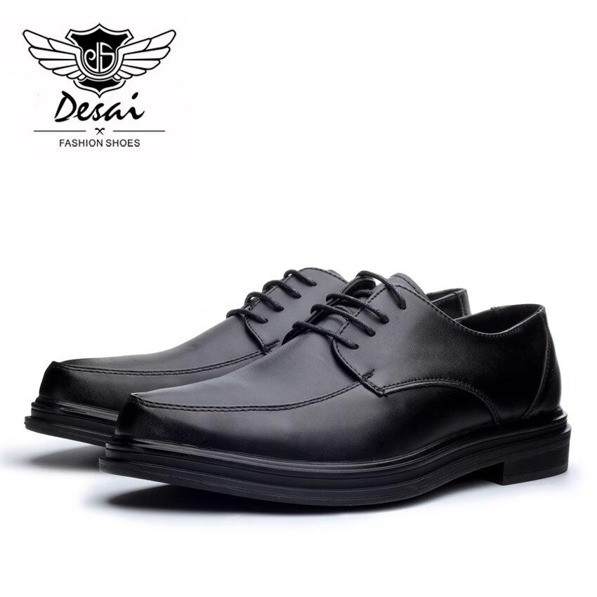 Robe Mode Desai Hommes Gros Pointu Casual Black Appartements Top Cuir Formelle Chaussures Mariage D'affaires brown De En Richelieus Mâle BqBpf