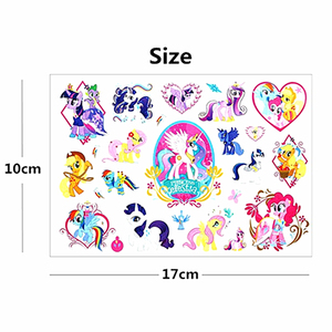 SHNAPIGN Little Pony Celestia, Детские временные тату, боди-арт, флэш-наклейки для тату, 17*10 см, водонепроницаемые, стильные, тату-наклейки