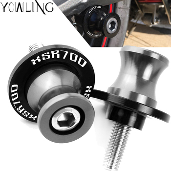 6MM XSR700 Motorcycle accessories Swingarm Spools slider stand screws For YAMAHA XSR 700 XSR700 ABS 2014 2015 2016 2017 2018 for yamaha mt07 mt 07 mt 07 motorcycle stands screws swingarm spools slider 6mm swing arm sliders swingarm spools stand screws