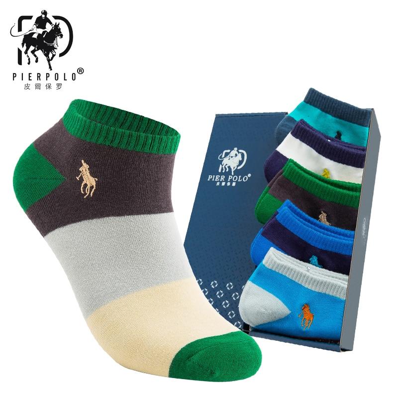 Hot Spot New Harajuku Popsoket Pier Polo Happy Cotton Men's Summer Short Ankle Socks Funny Art Sock Men Invisible Socks Men