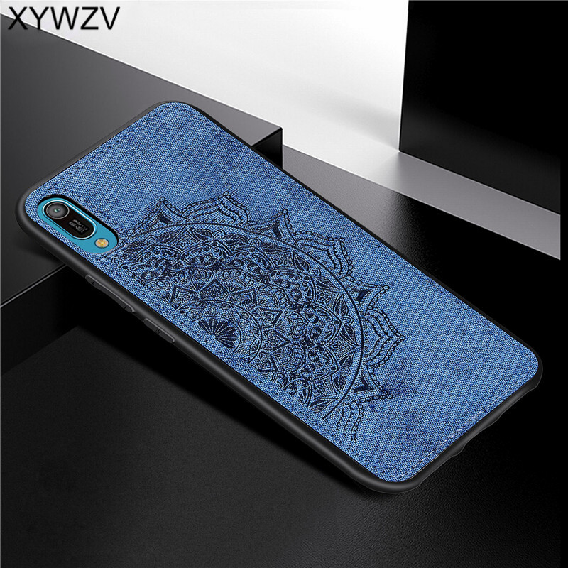 Image 4 - Huawei Y6 Pro 2019 Shockproof Soft TPU Silicone Cloth Texture Hard PC Phone Case For Huawei Y6 Pro 2019 Cover Huawei Y6 Pro 2019-in Fitted Cases from Cellphones & Telecommunications
