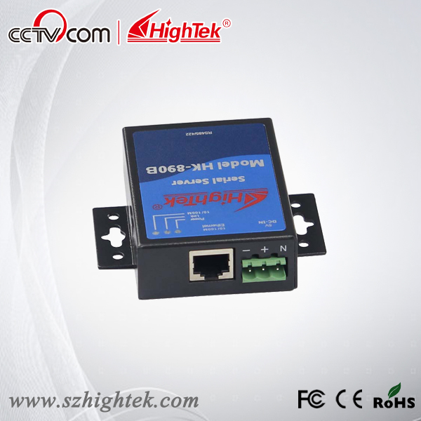 HighTek HK-890B TCP/IP Ethernet to RS485/422 Serial Device Server hightek hk 8116b industrial 16 ports rs485 422 to ethernet converter ethernet to serial device server