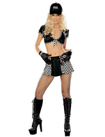 Hot Seller Faux Leather Miss Racer Racing Sport Driver Costume Super Car Girl Outfit Sexy Racing