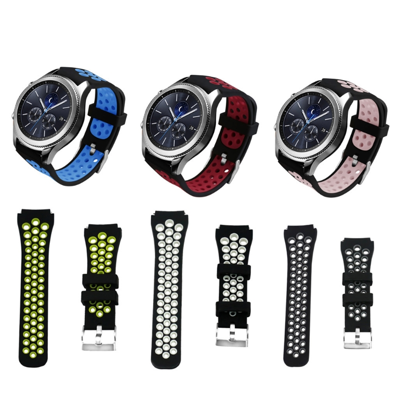 Silicone Strap Watchband For Samsung Gear S3 Frontier Classic SM-R760 SM-R770 Smart watch Wristband Strap Sport Style Drop ship luxury silicone watch replacement band strap for samsung gear fit 2 sm r360 wristband 100