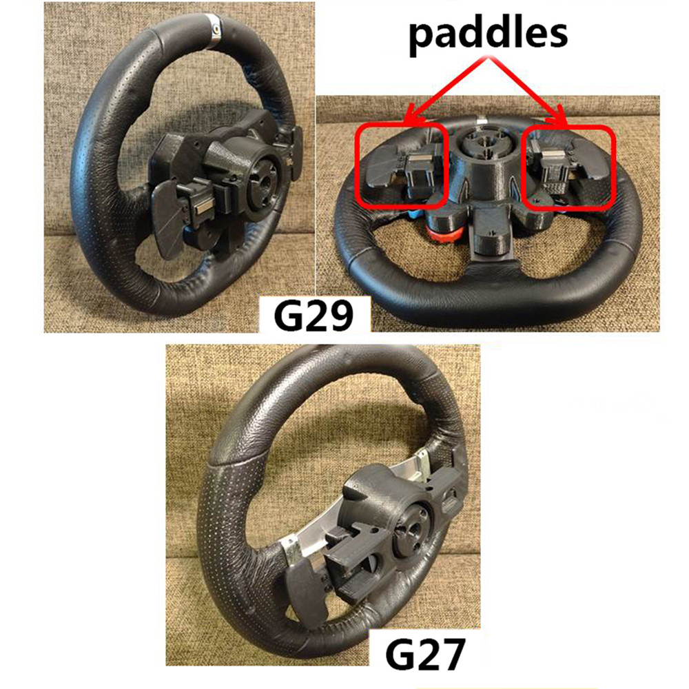 Enhanced Version Steering Wheel Base Housing Shell for <font><b>Logitech</b></font> <font><b>G29</b></font> G27 Replacement Steering Wheel Accessories With Paddles image