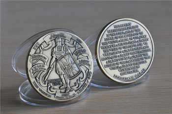 100pcs/lot DHL free shipping United States Armor of God High Relief Ephesians 6:10-12 Bronze Challenge Coin - DISCOUNT ITEM  15% OFF All Category