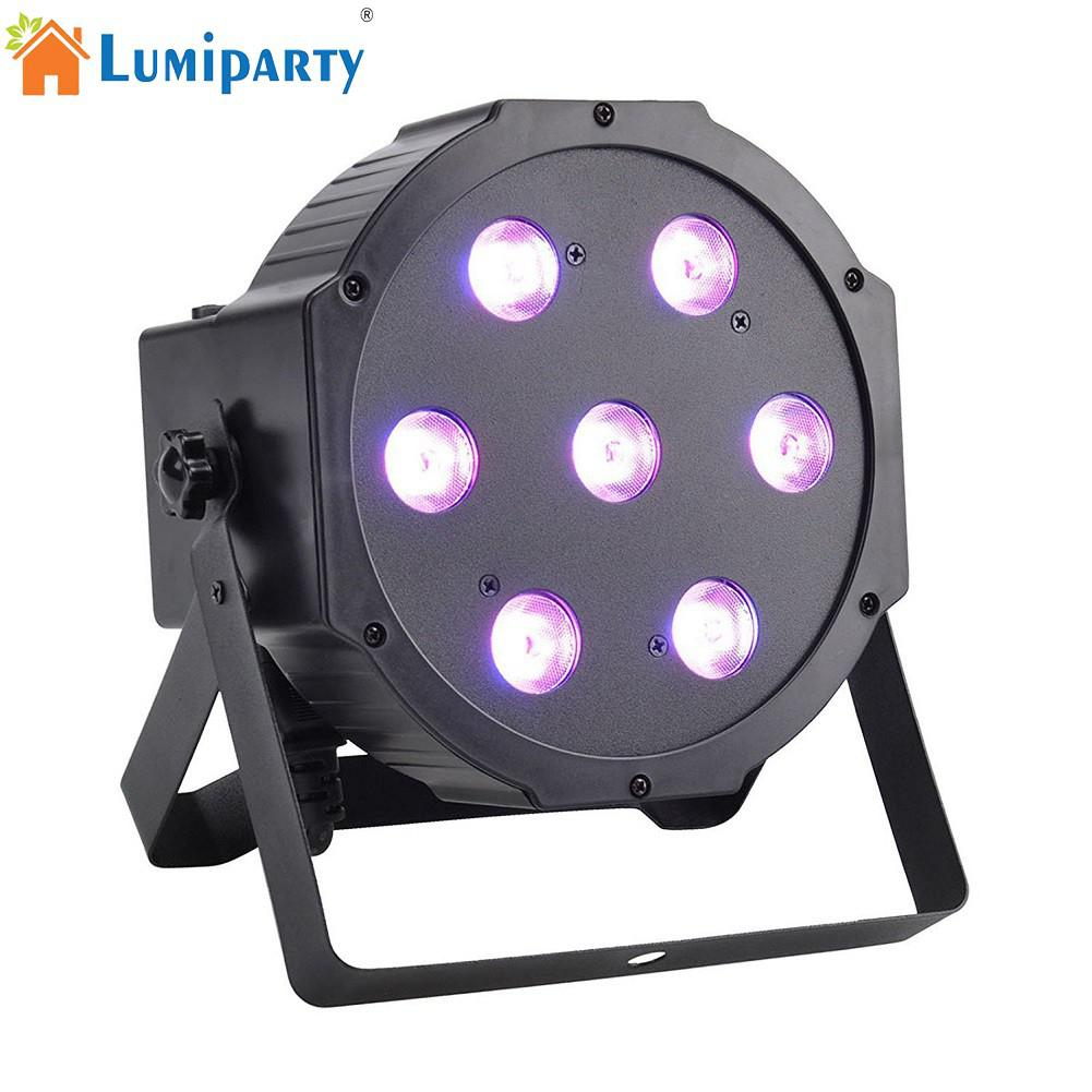 LumiParty 7 LED Colourful Projection Light DMX51 Stage Laser Lamp for Club DJ Show Party Ballroom Bands Stage Lighting Effect