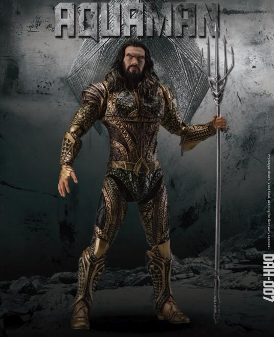 DC Justice League Aquaman BJD Joints Moveable DAH-007  Action Collectible Figure Toys 21cm