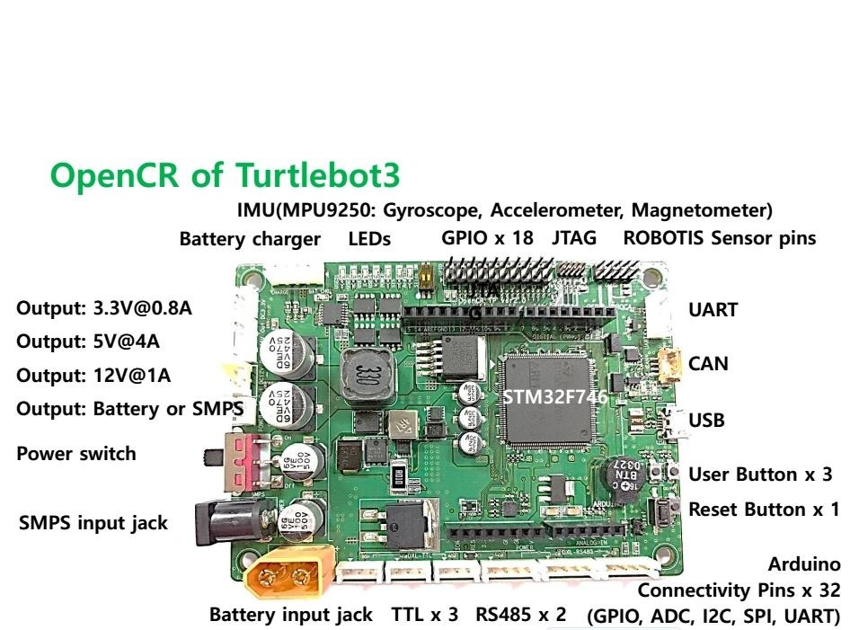 DIY ROS robot opencr turtlebot3 arduino mpu9250 stm32 imu open source accessories