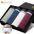 Горячие Продажи 4 ШТ. мужские Боксеры Высокого качества для Мужчин's Underwear Sexy Хлопок Боксеры Underwear Боксер плюс Размер