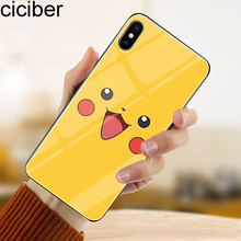 ciciber Tempered Glass Phone Case Funda For iPhone 7 8 6 6S Plus SpongeBob Cover For iPhone 11 Pro Max X XR XS Max Coque Capa ciciber dragon ball phone case for iphone 11 pro max xr x xs max tempered glass cover cases for iphone 7 8 6 6s plus funda coque