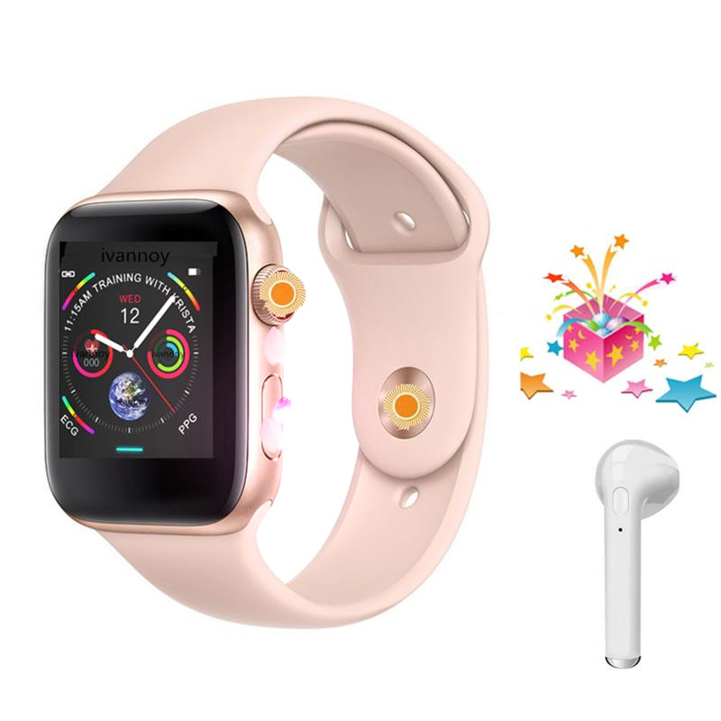 4 colors IWO 8 Smartwatch 44mm case Watch Series 4 for Xiaomi Huawei  Samsung Support Facebook Whatsapp call message reminder