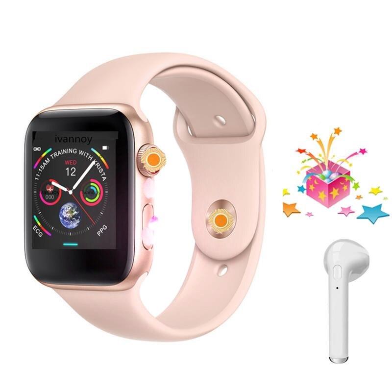 4 couleurs IWO 8 Smartwatch 44mm cas Montre Série 4 pour Xiaomi Huawei Samsung Soutien appel rappel de message