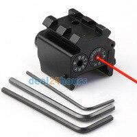 Tactical Mini Pistol Red Dot Laser Sight Scop Rail Weaver/Picatinny Mount 21mm Nieuwe