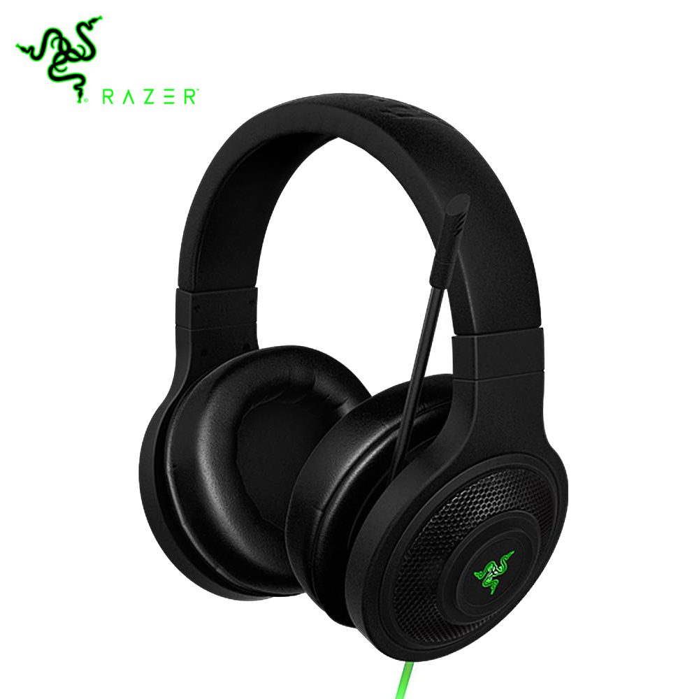 """Razer Kraken חיוני אוזניות בידוד רעש על אוזן אנלוגי 3.5 מ""""מ עם מיקרופון עבור מחשב/מחשב נייד/טלפון 1.3 m שחור משחקי אוזניות"""