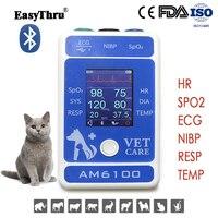 EasyThru AM6100 Animal Medical pet Vital sign monitor SPO2 ECG NIBP RESP TEMP Multi parameter Veterinary monitoring Equipment