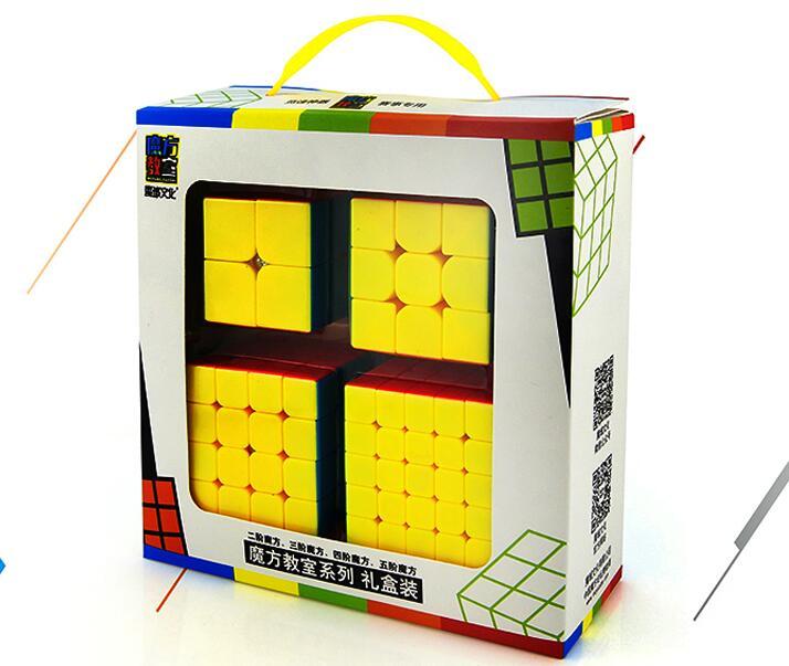 4 pièces/ensemble Cube magique Puzzle logique cerveau Teaser cadeau jeu jouets pour adultes enfants