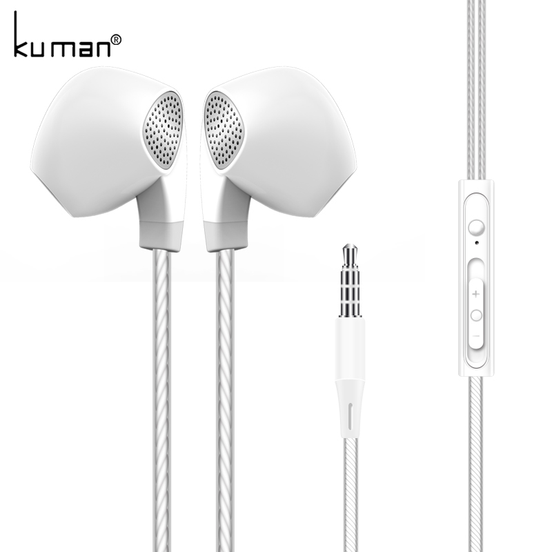 Kuman In Ear Headsets Sport Headset with Microphone Super Bass Earphone For iphone xiaomi huawei Phone PC Gaming YL-HW2