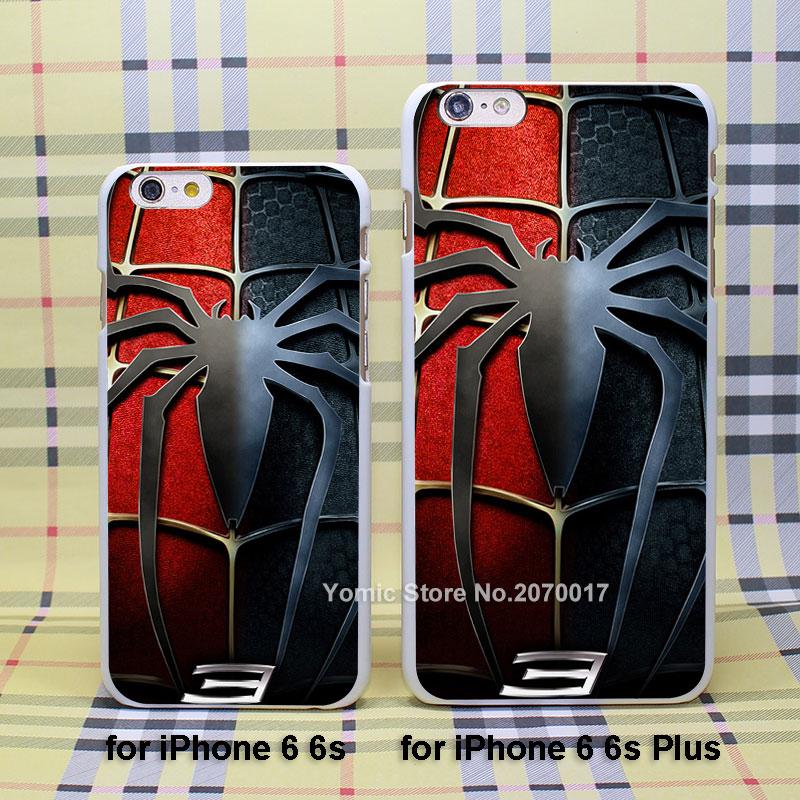 <font><b>Spider</b></font> <font><b>Man</b></font> <font><b>3</b></font> <font><b>logo</b></font> comic <font><b>case</b></font> cover <font><b>for</b></font> Apple <font><b>iPhone</b></font> 4/4s 5/5s 5c <font><b>6</b></font>/6s 6Plus/6sPlus plastic white <font><b>case</b></font>