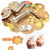 Aluminum Alloy Cake Decorating Tip Sets Cookie Press Mold Gun Nozzles Machine Baking Pastry Icing Piping Tool Set LQX7492
