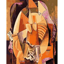Painting By Numbers DIY Dropshipping 40x50 50x65cm Picasso famous painting Figure Canvas Wedding Decoration Art picture Gift(China)