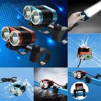 B2 Prawda LM 2 X XM-L T6 LED USB Wodoodporna lampa Rower Reflektor Długo Używany Życie Camping i Piesze Wycieczki hurtowni i Sprzedaje