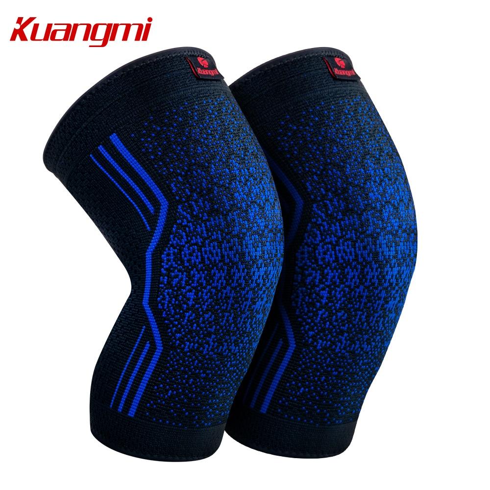 Kuangmi 1 pár térdvédők szilikon csúszásmentes röplabda térd ujjú rugalmas térd melltartó támogatás sport térd védő kosárlabda
