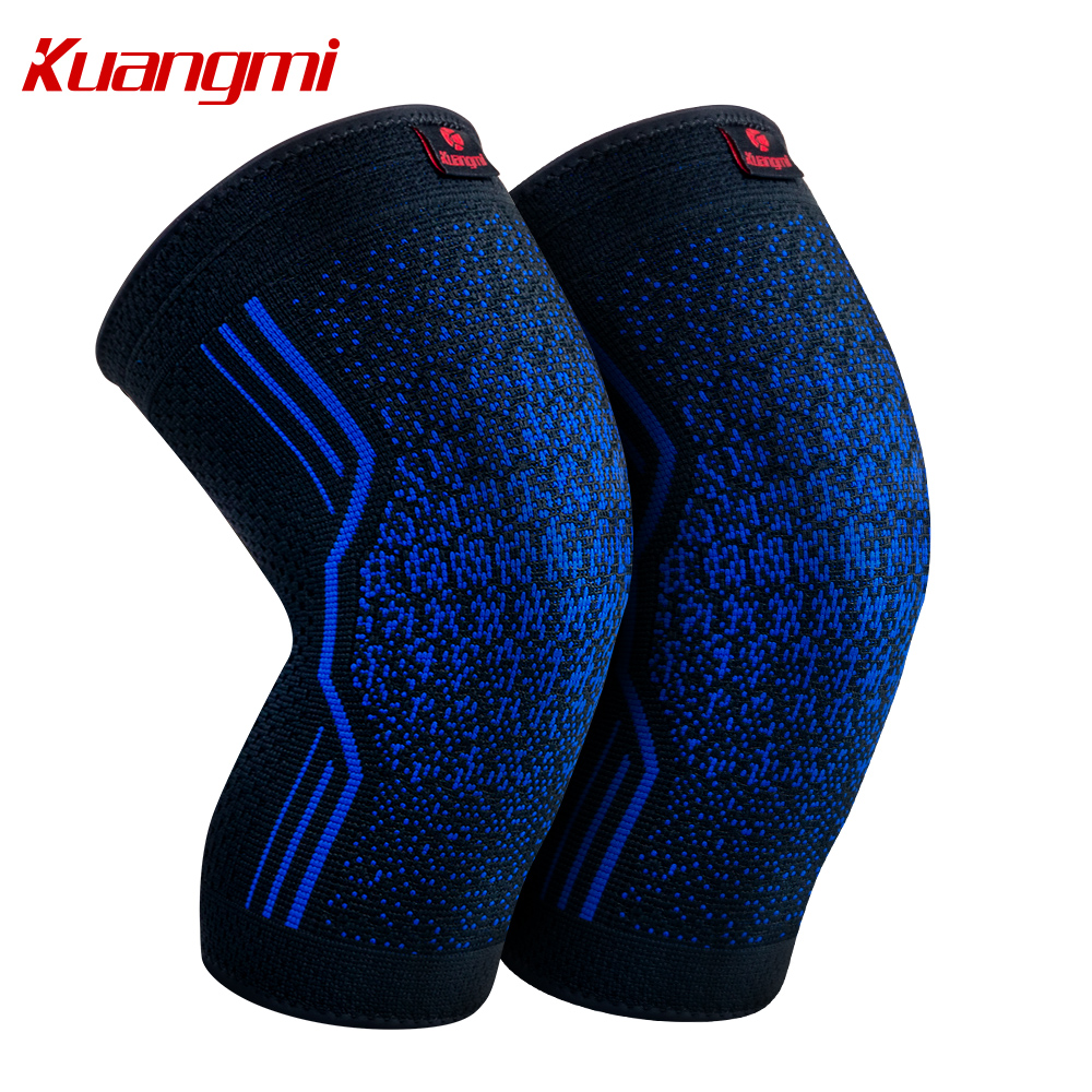 Kuangmi 1 Pair Knee <font><b>Pads</b></font> Silicone Non-slip Volleyball Knee Sleeve Elastic Knee Brace Support Sports knee Protector Basketball
