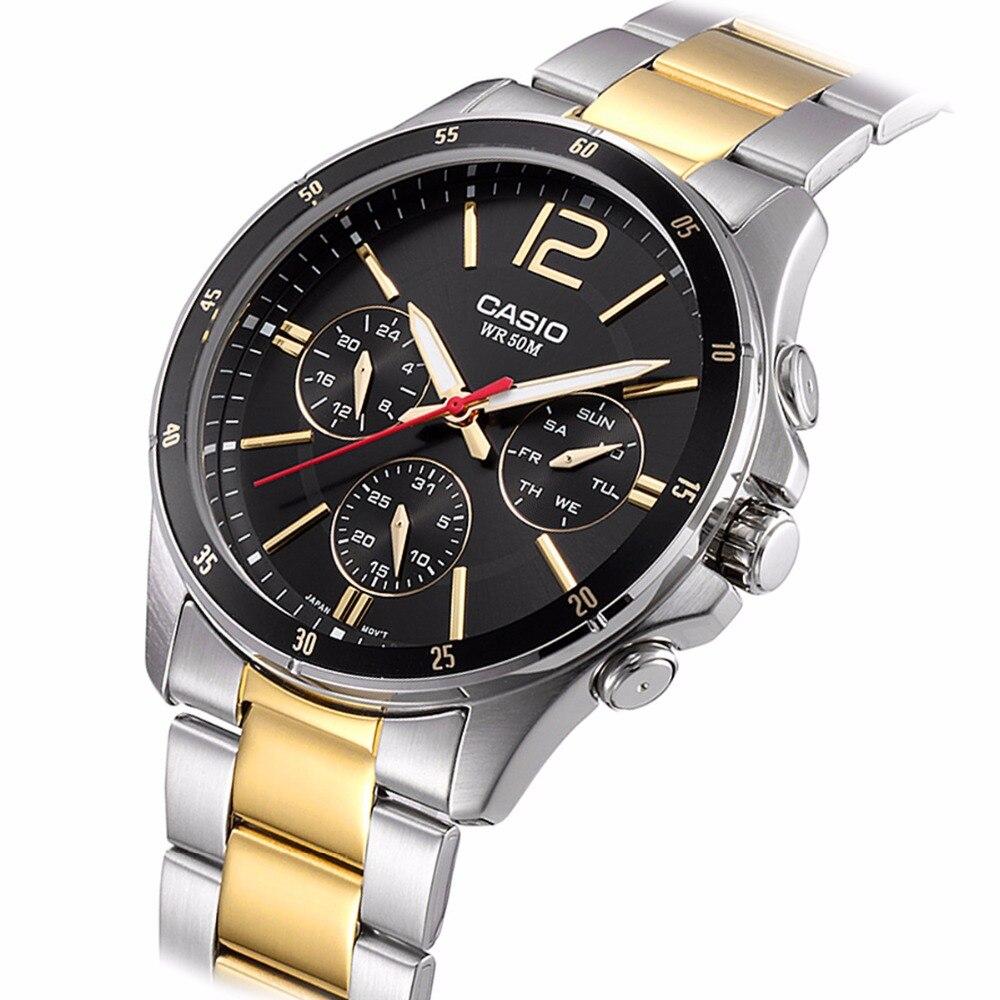 e17a69f69ef2 Casio relógio Analógico esportes relógio de quartzo dos homens de negócios  de Moda relógio à prova d  água MTP 1374 em Relógios de quartzo de Relógios  no ...