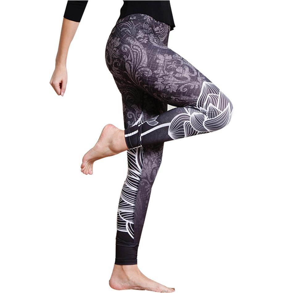 Floral Print Casual Push Up Fitness Sporting Leggins Yuga Pants High Waist Elastic Women Sportswear Workout Leggings For Women