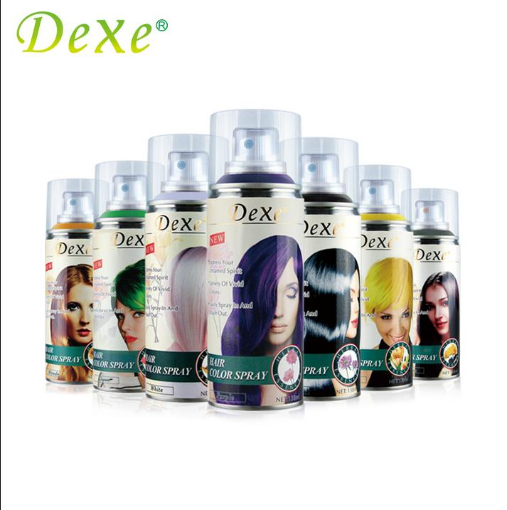 Dexe Black Purple Gray Hair Color Spray Easy Dyeing Hair Care For