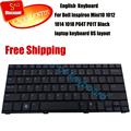 100% New english keyboard for Dell Inspiron Mini 10 1012 1018 Black US Version V111502AS1 PK1309W1A06 US laptop keyboard