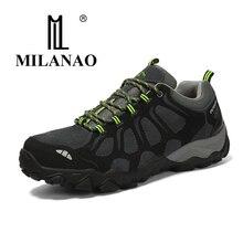 MILANAO Новый Для мужчин; Прочная альпинистская обувь спортивная обувь треккинг альпинизм ботинки из замши для Для мужчин