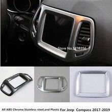 Per Jeep Compass 2017 2018 2019 car styling Temperatura della Console Centrale aria condizionata Volume interruttore di navigazione cornice cornice 1 pcs