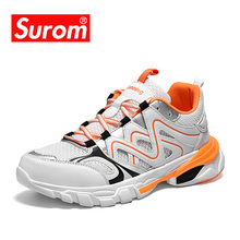 SUROM 2019 Autumn Sneakers Men Outdoor Fashion Unisex Casual Shoes Luxury Brand Factory Wholesale Low Price Womens