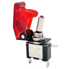 цены Hot Moto LED Push Button Rocker Toggle Switch Control 12V 20A Racing Car Truck Moto Boat Cover 5 Colors