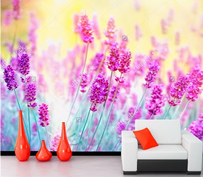 Custom wallpaper for walls 3d,Color lavender papel de parede,living room sofa TV wall bedroom kitchen photo wallpaper murals xchelda custom 3d wallpaper design buds and butterflies photo kitchen bedroom living room wall murals papel de parede