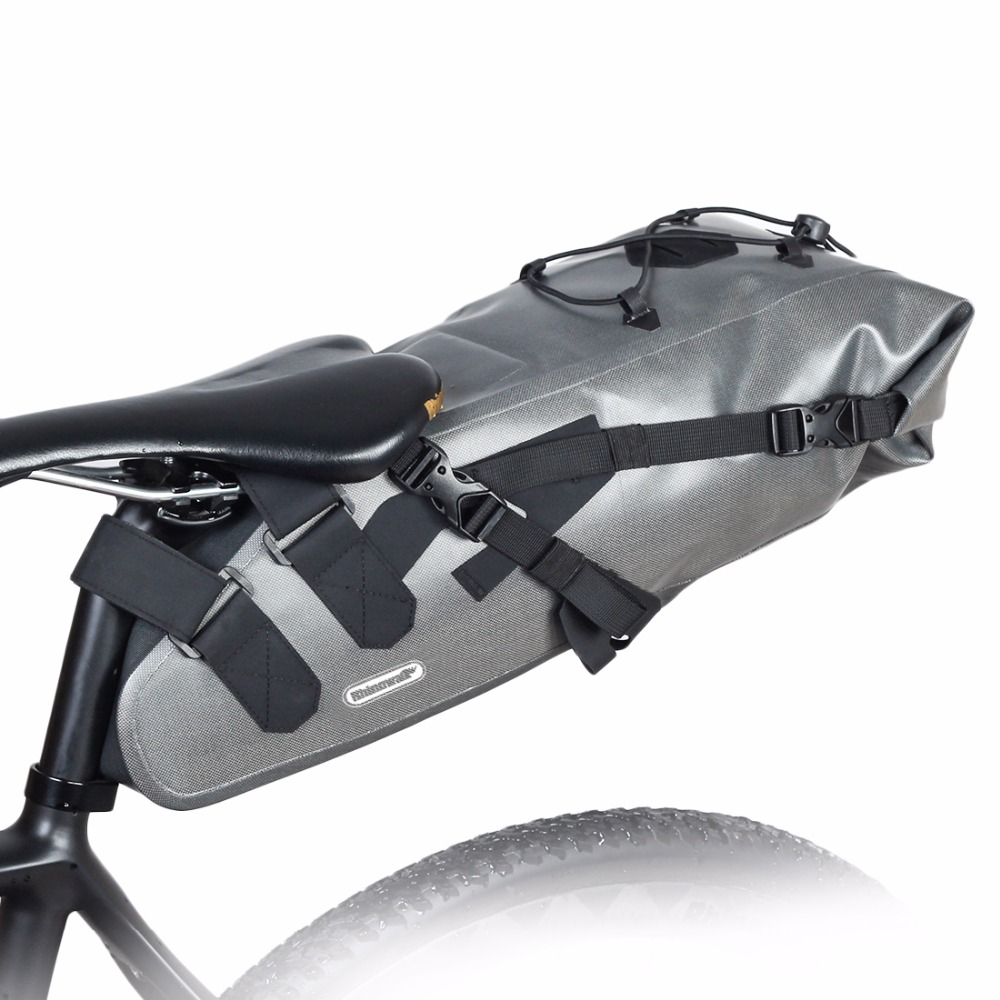 road bicycle bag waterproof Shockproof tail bag mountain bike saddle bag Cycling Rear Seatpost Bag mtb bicycle Accessories 10L rockbros large capacity bicycle camera bag rainproof cycling mtb mountain road bike rear seat travel rack bag bag accessories