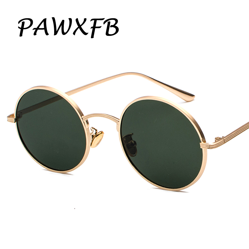 Pop Age 2018 Newest Round Sunglasses Women Men Arm Green Mirror Sun glasses Male Vintage Eyeglasses Oculos de sol 400UV ...