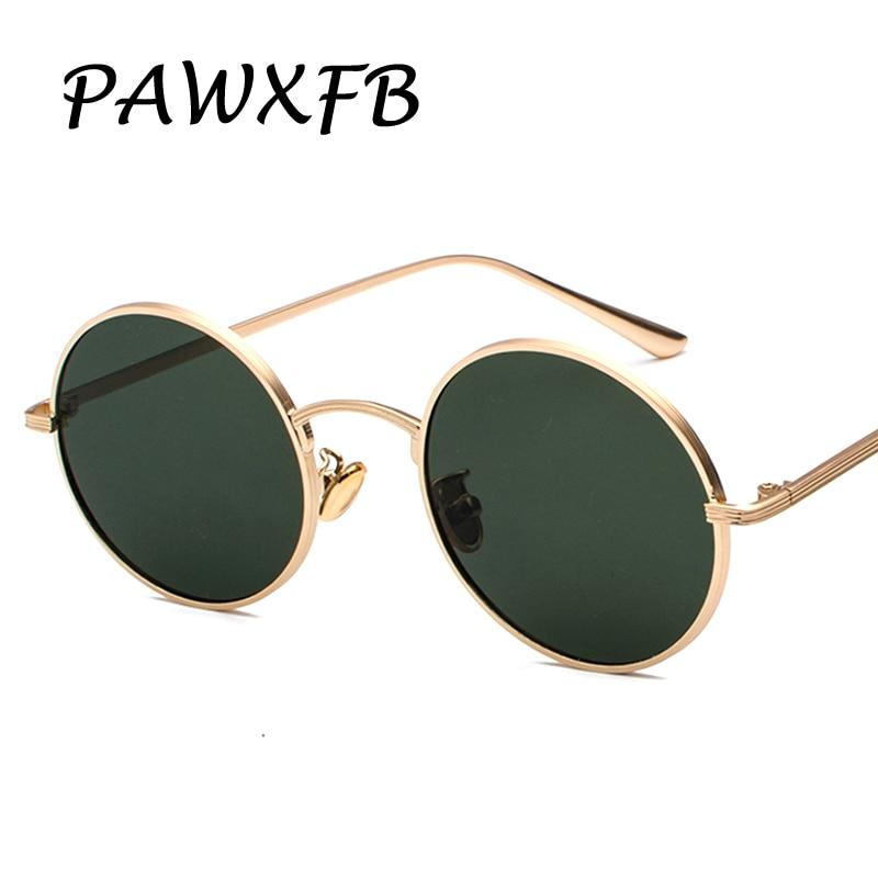 Pop Age 2018 Newest Round Sunglasses Women Men Arm Green Mirror Sun glasses Male Vintage Eyeglasses Oculos de sol 400UV