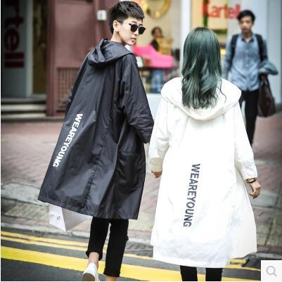 Frete grátis!!! 2016 Longo contratada é impedido aquecer com roupas letras Impressas com capuz amantes sol-protetora vestuário S-3XL