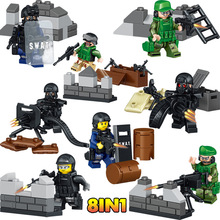 Military Series Blocks Compatible LegoINGLYS Special Forces Mini Action Figures Set Bricks Enlightening Fun Toys For Boys