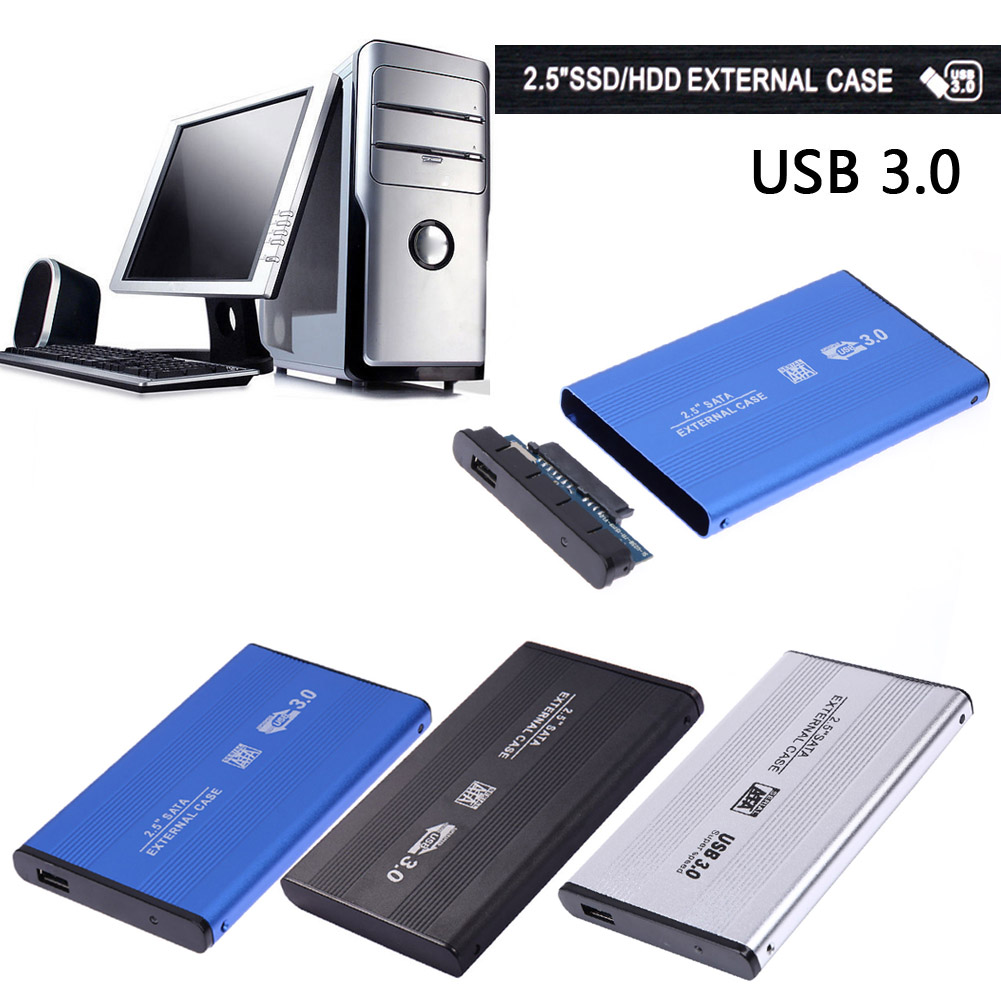 2.5 pouce SATA USB 3.0 HDD Disque Dur Boîtier Externe SSD Disk Box Case XXM8