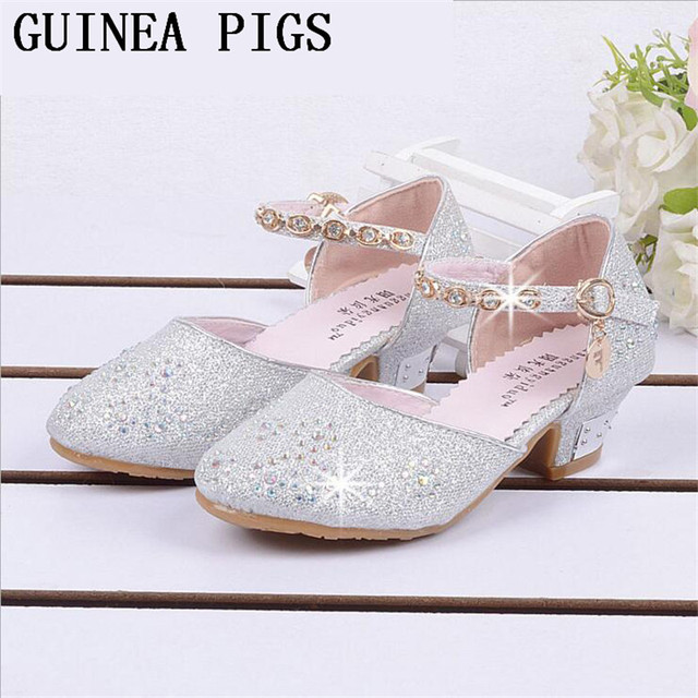 La primavera y el Otoño de Verano de Cristal Niñas Sandalias de Los Niños Zapatos de tacón alto Con Arcos Para Niños Sandalias de Los Zapatos de tacón alto CONEJILLOS de indias