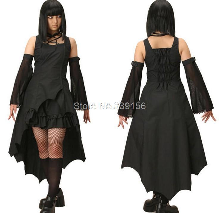 Hot Sale Plus Size Black Gothic Punk Lolita Steampunk Dressvampire