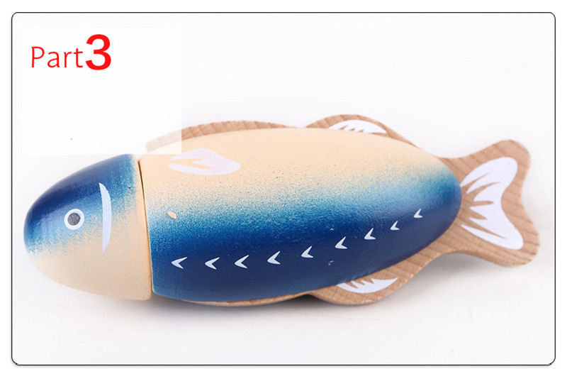 New Wooden Baby Toy Wooden Magnetic Seafood Stew Pot Baby Simulation Toy Baby Gifts in Kitchen Toys from Toys Hobbies