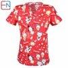 5 DESIGNS IN Hennar Brand Medical Scrub Tops Surgical Scrubs Scrub Uniform 100 Print Cotton Christmas