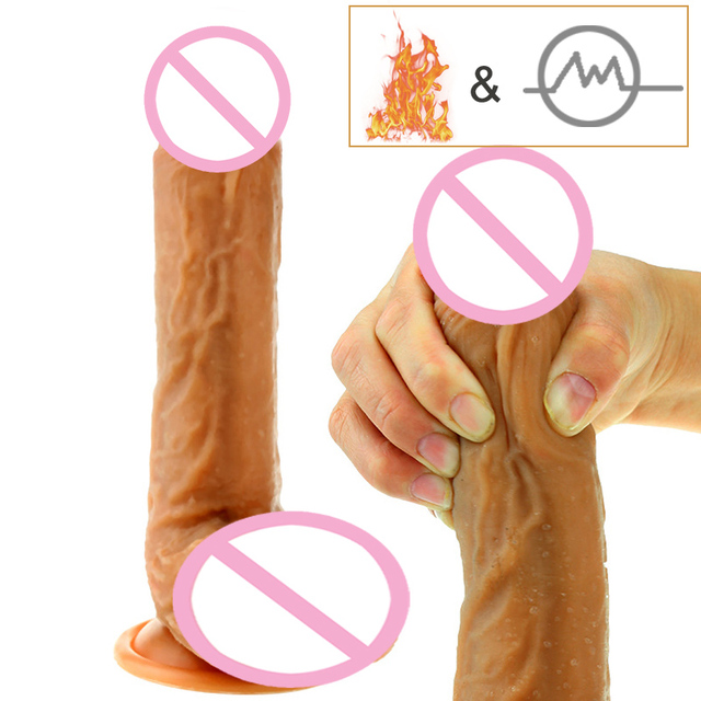 Huge Heating Dildo Realistic Vibrator swing male artificial Penis horse  dildo suction cup Adult Sex Toys For Woman Sex Products