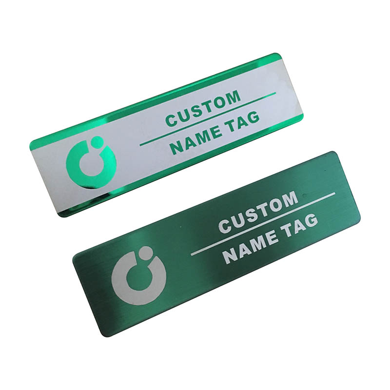 10pcs custom name tag personalized name badge id business laser name plate badge with magnet or pin  (33)
